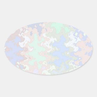 Escriba en sombra multicolora de la luz de la imag pegatinas de oval