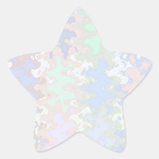 Escriba en sombra multicolora de la luz de la colcomanias forma de estrellas