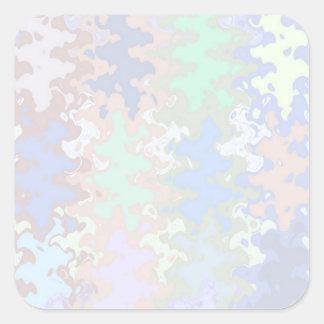 Escriba en sombra multicolora de la luz de la pegatina cuadrada