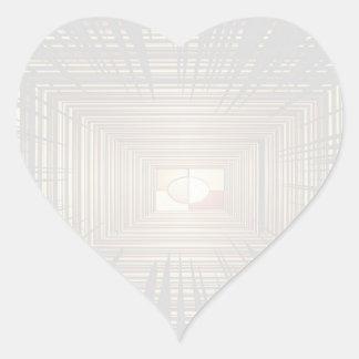 Escriba en sombra multicolora de la luz de la pegatina en forma de corazón