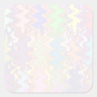 Escriba en sombra multicolora de la luz de la calcomanías cuadradass