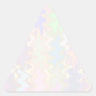 Escriba en sombra multicolora de la luz de la colcomanias trianguladas