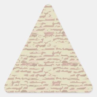 Escriba en sombra multicolora de la luz de la colcomanias de triangulo