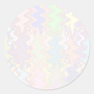 Escriba en sombra multicolora de la luz de la pegatina redonda