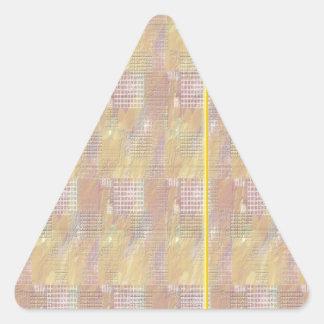 Escriba en sombra multicolora de la luz de la calcomanías de trianguladas