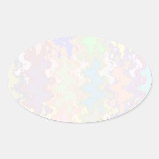 Escriba en sombra multicolora de la luz de la colcomanias oval personalizadas