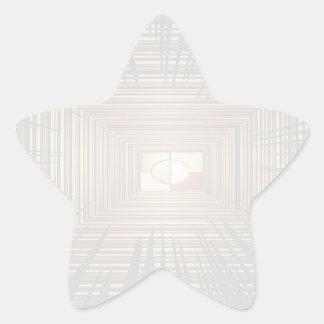 Escriba en sombra multicolora de la luz de la pegatina en forma de estrella
