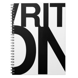 Escriba en tipo grande del cuaderno de la idea