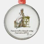 Escriba encendido dice a Jane Austen Ornato