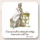 Escriba encendido dice a Jane Austen Posavasos