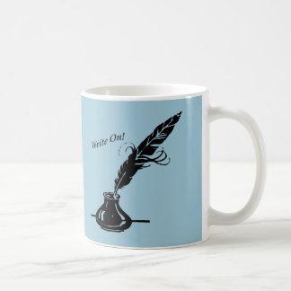 ¡Escriba encendido! Escritores de la taza de café
