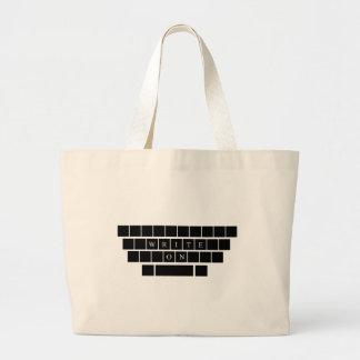 Escriba encendido - la bolsa de asas - los regalos