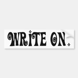 Escriba encendido (Ver 3) Pegatina De Parachoque