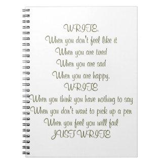 ¡Escriba! Esconda el libro Spiral Notebook