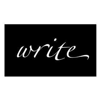 Escriba: Escritor, Copywriter, escritor free lance Tarjetas De Visita