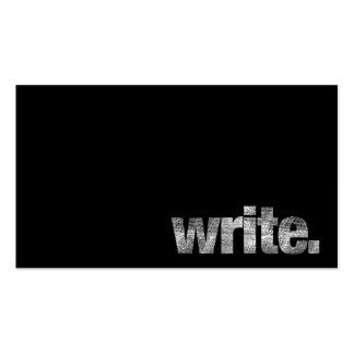 Escriba: Escritor, escritor free lance, autor Tarjetas De Visita