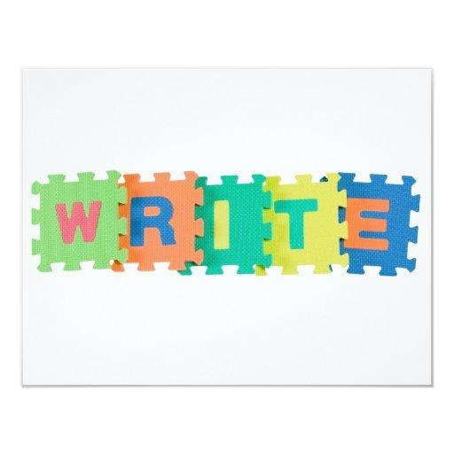 Escriba Invitación 10,8 X 13,9 Cm