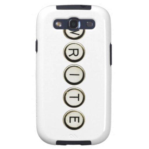 Escriba la caja de la galaxia de Samsung de las ll Samsung Galaxy S3 Protector