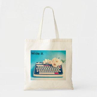 Escriba la su propia historia de vida bolsa tela barata