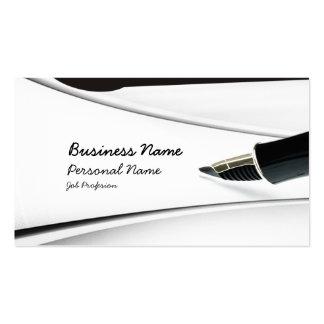 Escriba la tarjeta de visita de la profesión