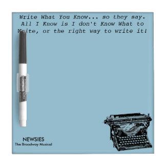 Escriba lo que usted conoce al tablero del pizarras blancas de calidad