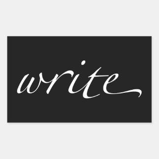 Escriba Pegatina Rectangular