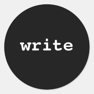 escriba pegatina redonda