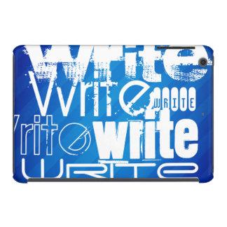 Escriba; Rayas azules reales Funda De iPad Mini