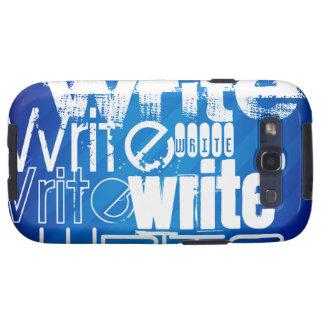 Escriba; Rayas azules reales Samsung Galaxy S3 Cobertura