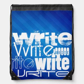 Escriba; Rayas azules reales Mochila