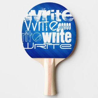 Escriba; Rayas azules reales Pala De Tenis De Mesa