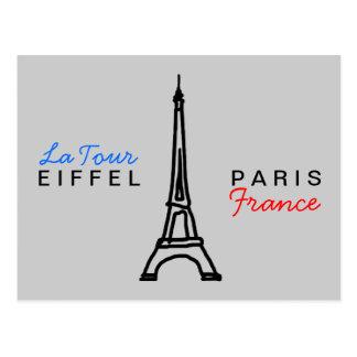escriba sobre París Tarjeta Postal