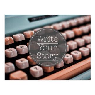 Escriba su historia postales