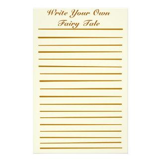 Escriba su propio cuento de hadas  papeleria de diseño