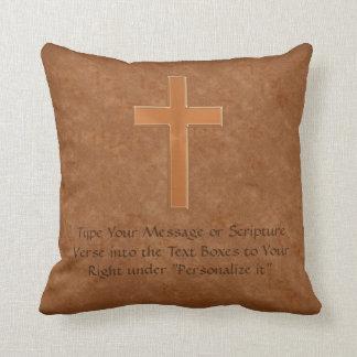 Escriba SUS almohadas del cristiano de la cruz del