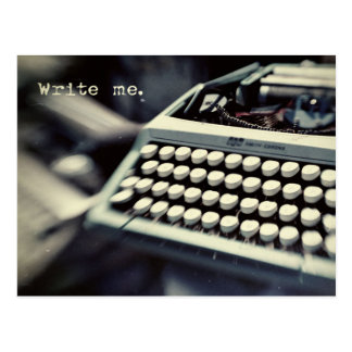 Escríbame, postal de la máquina de escribir del