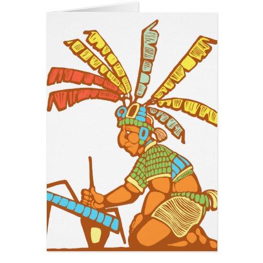 Escribano maya #1 tarjeton