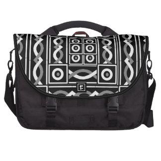 Escribano tribal negro bolsas para portátil