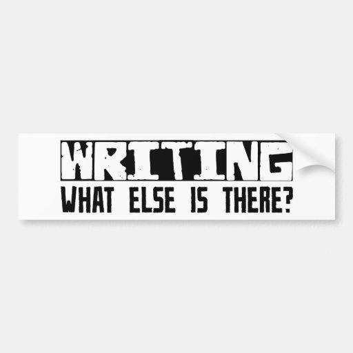 ¿Escribiendo qué más está allí? Pegatina De Parachoque