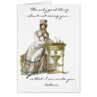 escribiéndole letras tarjeta de felicitación