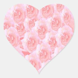 Escribir-en las flores de RedRose de la Luz-sombra Pegatina De Corazón