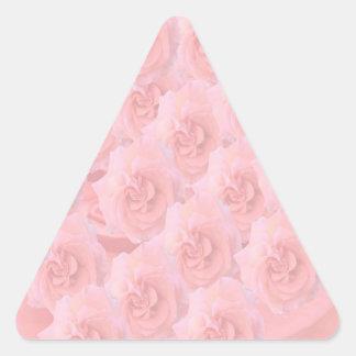 Escribir-en las flores de RedRose de la Luz-sombra Pegatinas Triangulo Personalizadas
