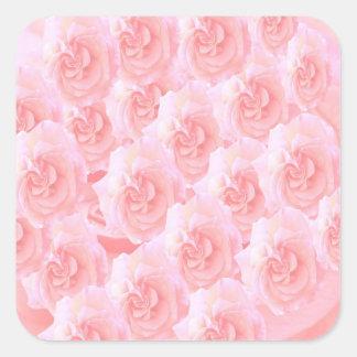 Escribir-en las flores de RedRose de la Luz-sombra Pegatina Cuadradas