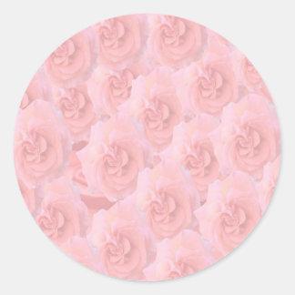 Escribir-en las flores de RedRose de la Luz-sombra Etiqueta Redonda