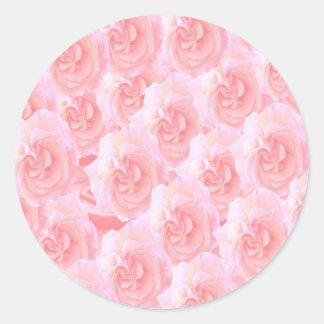 Escribir-en las flores de RedRose de la Luz-sombra Pegatina Redonda