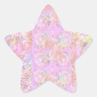 Escribir-en las flores de RedRose de la Luz-sombra Pegatina Forma De Estrella Personalizada
