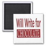 Escribirá para el regalo del chocolate para los es iman para frigorífico