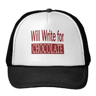Escribirá para el regalo del chocolate para los gorros