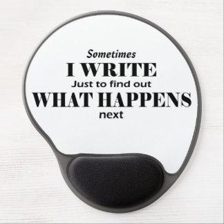"""""""Escribo a veces"""" el cojín de ratón del gel del Alfombrillas De Raton Con Gel"""