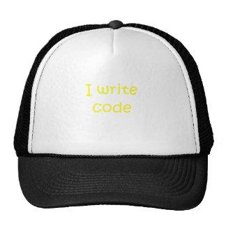 Escribo código gorros